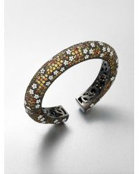 M.c.l  Matthew Campbell Laurenza - Metallic Enamel Accented Multicolored Sapphire Bangle Bracelet - Lyst