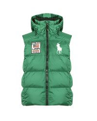 Polo Ralph Lauren Green Big Pony Down Vest for men