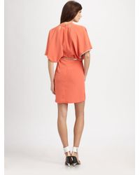 Sachin & Babi   Red Cutout Belted Dress   Lyst