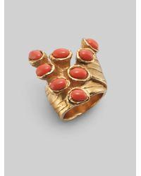 Saint Laurent Metallic Arty Dots Ring