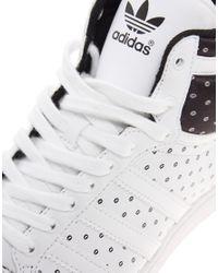 Adidas White Top Ten Hi Sleek Trainers
