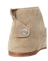Alberto Fasciani Natural 20mm Suede Low Boots