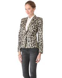 Alice + Olivia Multicolor Leopard Elyse Blazer