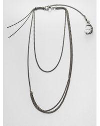 Ann Demeulemeester | Metallic Multirow Bird Claw Necklace | Lyst