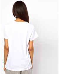ASOS Collection Green Tshirt in Metallic Foil