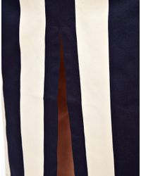 ASOS Collection Black Vertical Stripe Skirt in Column Shape