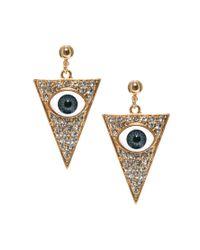 ASOS Multicolor Eye Triangle Earrings
