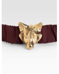 Burberry Brown Rhonda Fox Belt