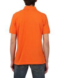 Burberry Brit Orange Cotton Piquet Polo Shirt for men