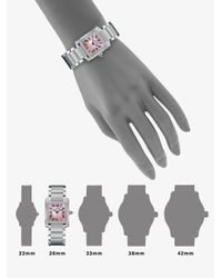 Cartier | Metallic Tank Francaise Small Pink Mother-of-pearl & Stainless Steel Bracelet Watch | Lyst