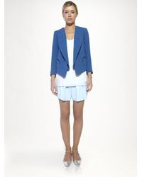 Chloé Blue Pleated Cady Shorts