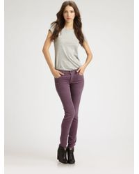 Citizens of Humanity Purple Corduroy Skinny Jeans