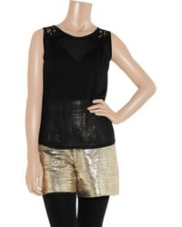 Dolce & Gabbana - Black Lace Trim Camisole - Lyst