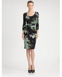 Dolce & Gabbana Black Lily Print Dress
