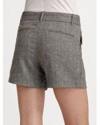 Elizabeth and James Gray James Herringbone Shorts