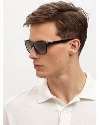 Gucci Black Classic Acetate Sunglasses for men