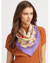 Gucci - Purple Silk Magic Box Foulard Scarf - Lyst