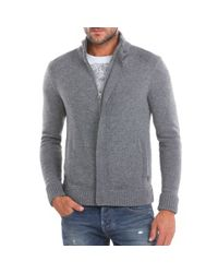 Guess | Gray Elliot Cardigan for Men | Lyst