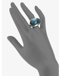 Ippolita - Blue Indigo Doublet Sterling Silver Oval Ring - Lyst