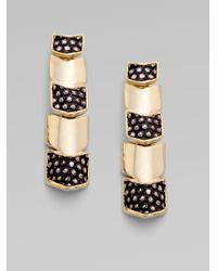 Kara Ross - Metallic 14k Goldplated Vertebrae Earring - Lyst