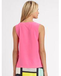 kate spade new york Pink Silk Addie Top