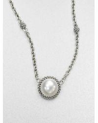 Lagos | Metallic Caviar Pearl Necklace | Lyst