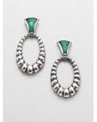 Lagos - Metallic Malachite Doublet Drop Earrings - Lyst