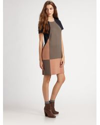 Marc By Marc Jacobs - Blue Caroline Colorblock Jersey Dress - Lyst