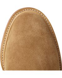 Mark McNairy New Amsterdam Brown Contrastsole Suede Derby Shoes for men