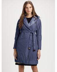 Max Mara | Blue Raincoat | Lyst
