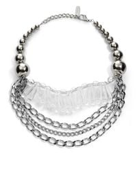 Max Mara - Metallic Ball Oval Necklace - Lyst