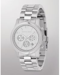 Michael Kors | Metallic Stainless Steel Chronograph Layton Watch | Lyst