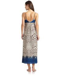 Nicole Miller Blue Snow Leopard Nightgown