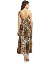 Oscar de la Renta Multicolor Leopard Print Nightgown
