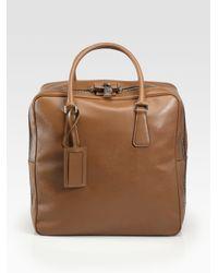 Prada Brown Saffiano Travel Bag for men