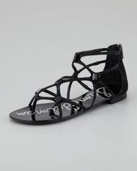 Sam Edelman Black Tamara Sequined Strappy Sandal
