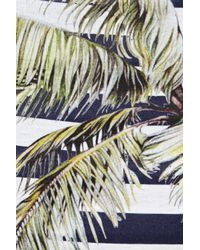 Stella McCartney Blue Striped Printed Cotton Top
