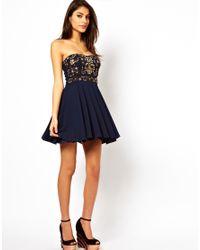 TFNC   Blue Prom Dress with Jewel Bustier   Lyst