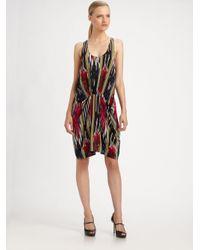 Thakoon | Multicolor Silk Drape Front Dress | Lyst