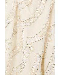 TOPSHOP Natural Pearl Embellished Vest