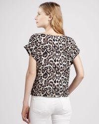 Alice + Olivia Multicolor Caprina Leopardprint Top