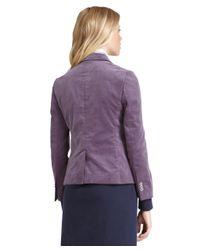 Brooks Brothers Purple Corduroy Blazer