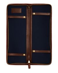 Brooks Brothers   Brown Leather Tie Case for Men   Lyst