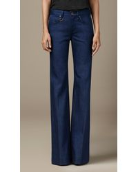 Burberry Blue Indigo Flare Fit Jeans