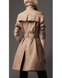 Burberry Natural Long Oversize Resinated Cotton Trench Coat