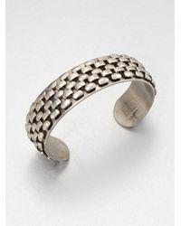 DANNIJO | Metallic Cobblestone Silver Cuff Bracelet | Lyst