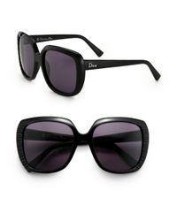 Dior Black Taffetas Square Sunglasses
