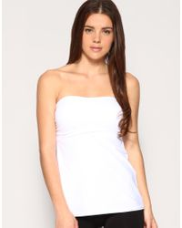 Flexees White Fat Free Dressing Foam Cup Strapless Top
