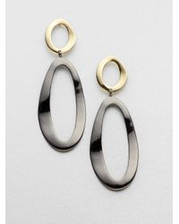 Ippolita - Metallic 18k Gold Blackened Sterling Silver Long Drop Earrings - Lyst