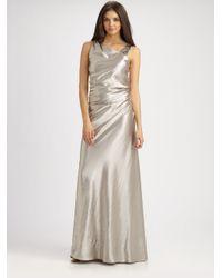 Kay Unger Metallic Silk Gown